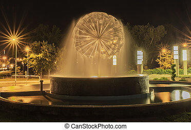 Night fountain image