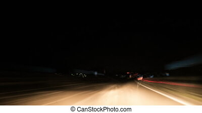 Night Freeway Car Mount Driving Time Lapse