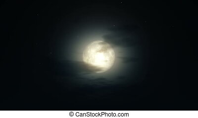 night full moon 4k