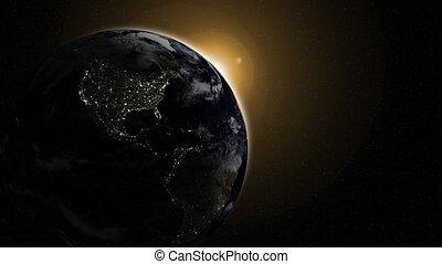 Night Globe with City Lights, Part 2