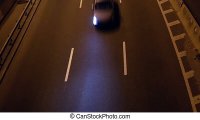 Night highway traffic transport speed