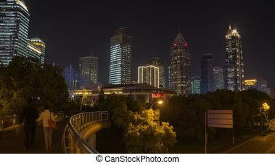 Night hyperlapse of Shanghai - Shanghai in China