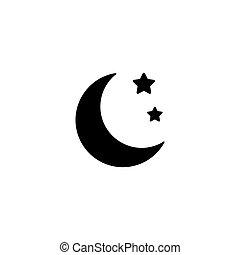 Night Icon flat