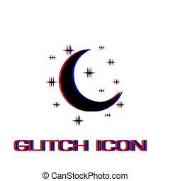 Night icon flat