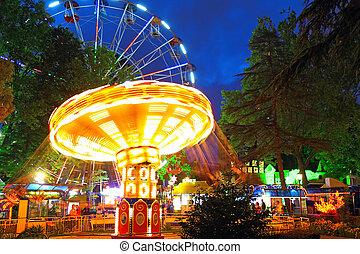 Night illumination in Park Riviera , Sochi city- Capital of ...