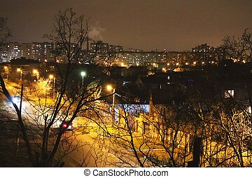 Night illumination of suburbs