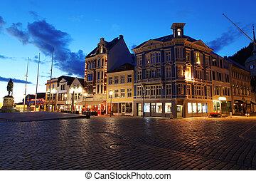 Night in Bergen, Norway