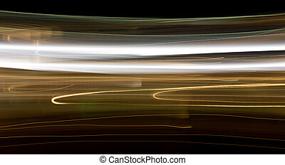 Night in the city as a background. Photo in Motion