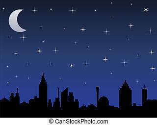 Night in the sky