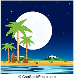 Night in tropic
