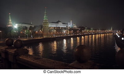 night Kremlin Embankment