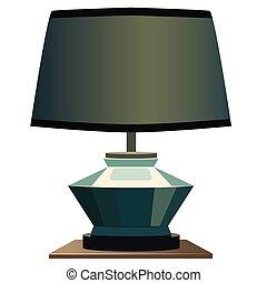 Night Lamp . Blue background. Format eps10.