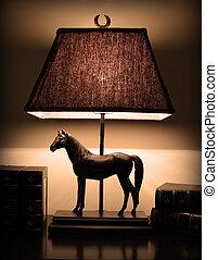 night lamp on the desk