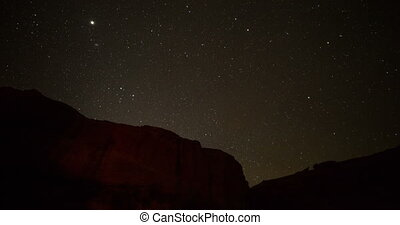 Night lapse of starry night