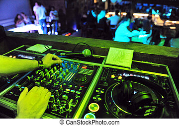 Night life - Clubbing - NETIVOT - AUGUST 24: Dj mixing in a...