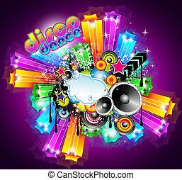 Night Life Disco Event Background