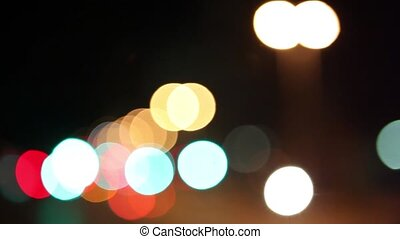 Night life in Cape Town - Bokeh image of nightlife in Cape...