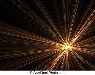 Night light brightness - Abstract fractal background....