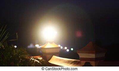 Night light in India - Night lighti in India Varkala Sunrise