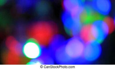 Night lights. Loopable - Colorful night lights