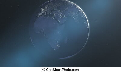 Night Lights of Africa & Europe (60fps)