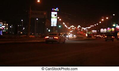 Night lights of city - video night lights of city