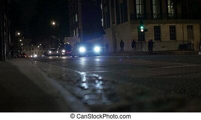 Night London Street Traffic