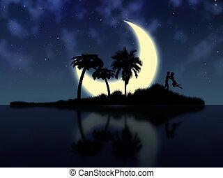 Night magic island