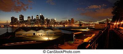 night manhattan panorama