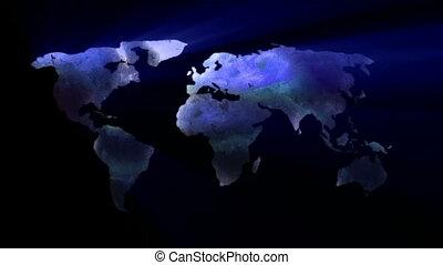 Night Map Animation
