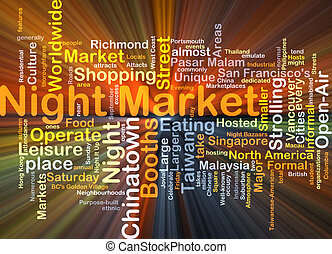 Night market background concept glowing - Background concept...