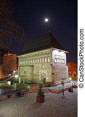 Night medieval church