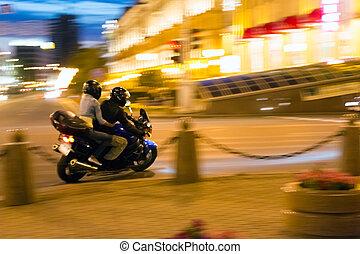 Night motorcyclist