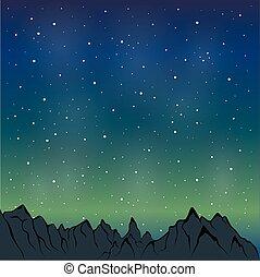 night mountain range