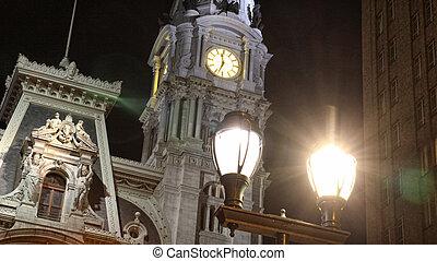 Night mystic clock tower