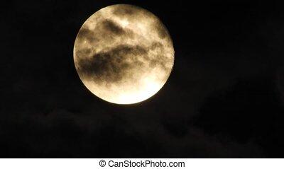 night., nuit, mystery., lune, sky., nuageux, moonlight., moon., nuages, dramatique, mystérieux, temps, ciel, automne, spooky