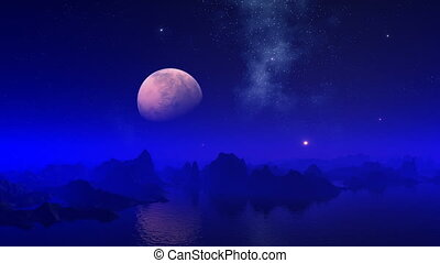 Night on a blue planet