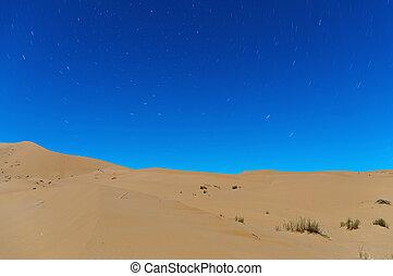 Night on Erg Chebbi dunes at Morocco