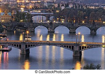 night on Prague