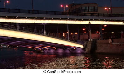 Night on the Moscow River. Bridge