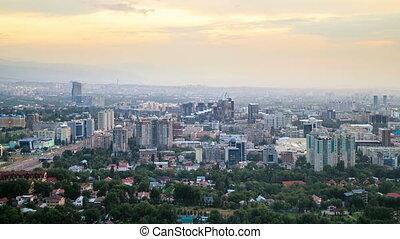 Night over the city. Almaty, Kazakhstan