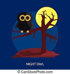 Night Owl Conceptual illustration Design