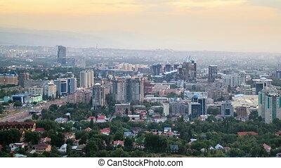 Night panorama. Almaty, Kazakhstan