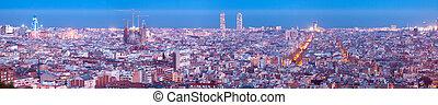 night panorama of city. Barcelona