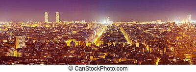 night panorama of city