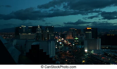 Las Vegas - Night panorama of Las Vegas, timelapsed