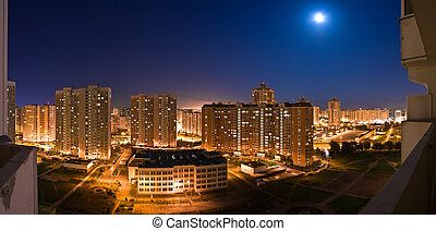 night panorama of Moscow