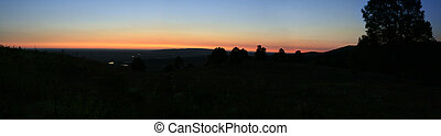 night panoramic landscape