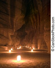 Night Petra show - amazing attraction - Lights and music and...