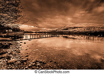 Night Pier at Lochernhead